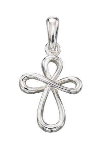 Sterling Silver  Loopy Cross necklace P4267